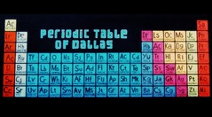 """Periodic Table of Dallas"", Deep Ellum, Dallas, TX. (masha.pavlova) Tags: color art graffiti dallas deepellum periodictable mendeleev"