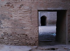 Heritage: Naukot fort, Thar (Ameer Hamza) Tags: door shadow black history classic architecture arch fort bricks historical block fortification passage fortifications hamza ppo ppc redbrick ameer kpc thinbrick subcontinental thari pakistanforts pakistanifort historicalfort naukotfort tharfort