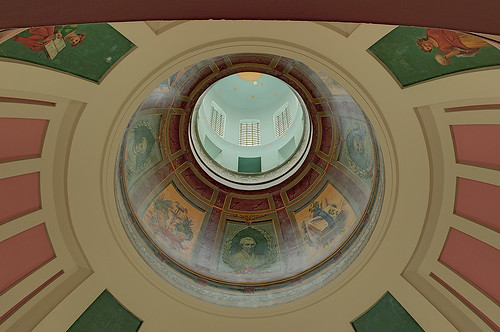 Old Courthouse, Jefferson National Expansion Memorial, in Saint Louis, Missouri, USA - ceiling of dome
