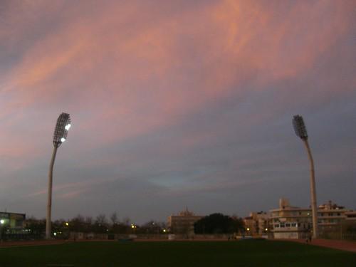 sky above stadium