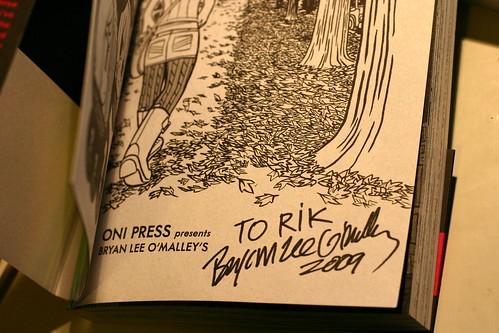 Bryan Lee O'Malley signature!
