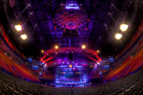 Fisheye view of the Arena