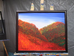 Fall in Ellicottville (Paintings By Timothy Lehr) Tags: park railroad trees winter light sunset summer sky sun house snow abstract art fall beach water colors field clouds train reflections painting golf hearts outdoors landscapes cow spring artist acrylic shadows handmade path lakes lion tracks canoe pines rivers letchworth brook streams birch timothy westernnewyork springville wods lehr sprauge springvillenewyork timpaintingsforalbum timlehr