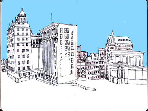 sketchbook pg. - Downtown El Paso
