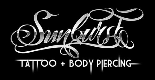 Sunburst Tattoo - Logo - Wht on Blk | Flickr - Photo Sharing!