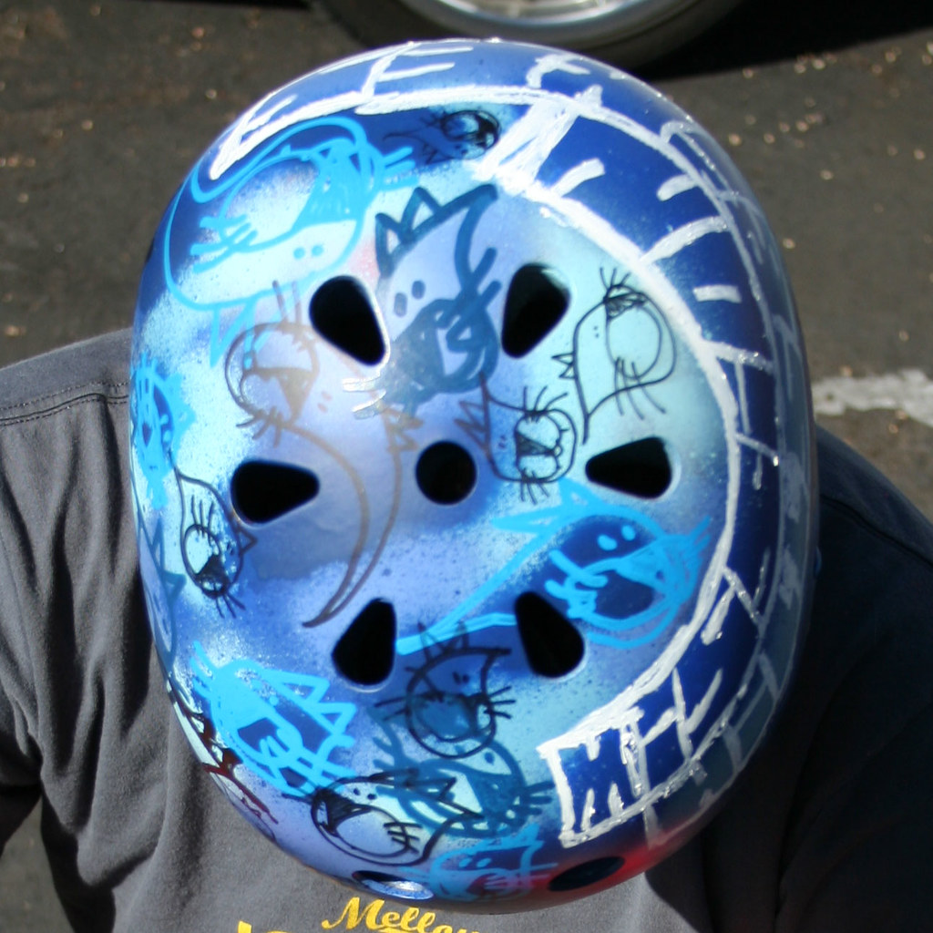 Customized Bike Helmet for Mission Hills Bike Shop, San Diego, CA