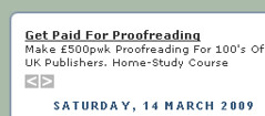 Proofreading advert needs proofreading
