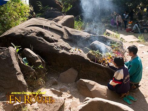 Wat Phu Champasak Festival Crocodile Stone