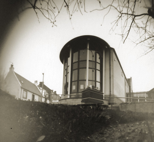 West Kilbride library pinhole image on paper