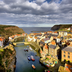 Staithes, the classic view, square cropped.... (Tall Guy) Tags: uk photography coast photo photos yorkshire enjoy northyorkmoors staithes tallguy