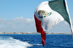 On the way to Cozumel island (mdanys) Tags: mexico flag osama cozumel danys mdanys