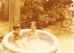 تابستان  1361 (Nahidyoussefi) Tags: children iran persia tehran تابستان ایران تهران آب پریسا پژمان کودکی