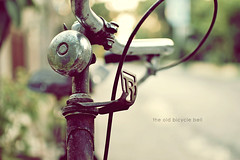 The Old Bicycle Bell (khaniv13) Tags: street old bike bicycle nikon soft dof bell bokeh bokehlicious d40x afs35mmf18 khaniv13
