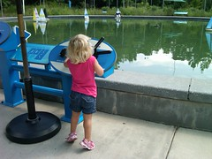 Anna sailing at Durham museum of life and science