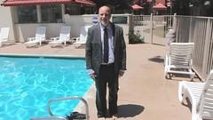 JPO2, All  Wet Again (Mr. Muddy Suitman) Tags: tie suit jeans wetlook 501s