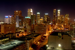 Los Angeles skyline at night (JsonStone) Tags: california ca longexposure building skyline night buildings la losangeles downtown cityscape downtownla scape losangelesskyline downtownlosangeles laskyline losangelescityscape lacityscape