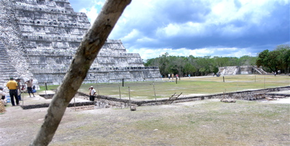 The area of excavation at Chichen Itza