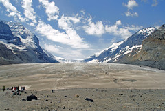 The Columbia Icefield glacier (ames sf) Tags: sky snow canada mountains clouds rockies jasper glacier banff columbiaicefield canadianrockies