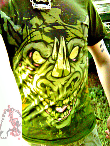 """Electric Zombie"" limited edition -  Rocker Olive Green { Rocksteady }  Tee  //  B (( 2009 ))"