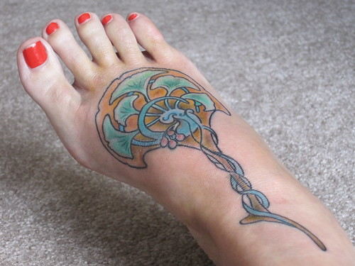 my art nouveau fan foot tattoo; ← Oldest photo