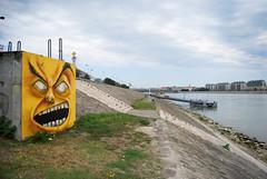 Arghhhh (Fat Heat .hu) Tags: face yellow wall concrete graffiti canal paint character anger spray graffity cfs dunau coloredeffects fatheat