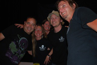 Ken in Rise Up & taking a picture with the Sea Shepherds, our Eco-table in Seattle at the USC party