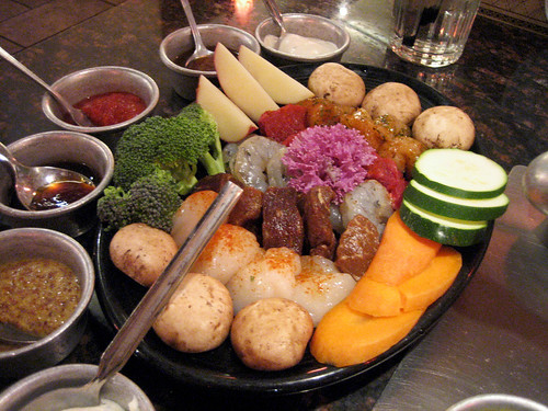 Meat + Veggies for Fondue