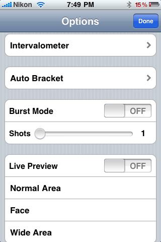 On1 DSLR remote iPhone app