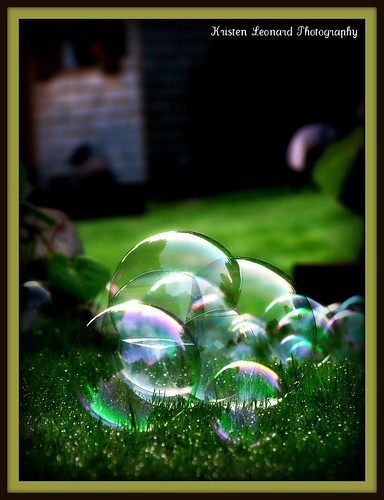 Bubbles on the grass