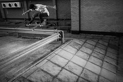 Scott Whittaker - Kickflip  **Explored** (JC.Photography) Tags: slr canon scott james board flash swindon sigma bank rail skate mm derby strobe mcnab unabomber whittaker elinchrom speedlite 18125 430ex 40d skyports clifforde