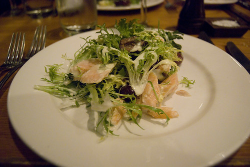 salted salmon salad