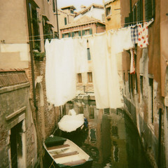 on the line (*Azzari) Tags: venice italy polaroid canal italia line laundry bellaitalia gabriellekaiphotography