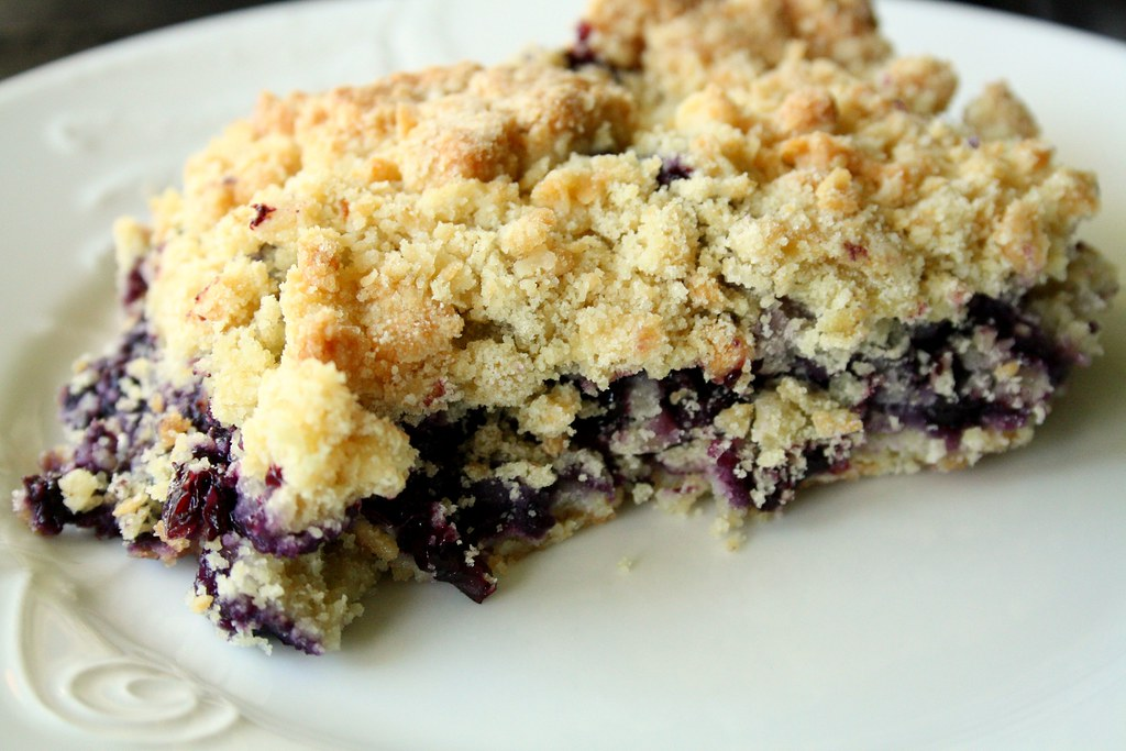 Cookin' Canuck's Spiked Blueberry Crumb Bars - Suzie The Foodie