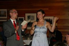 toasting our guests (Saleha711) Tags: toast reception bluedress salehagreg
