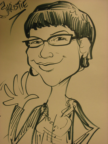 090915. self-portrait day. i am super sassy as a caricature.