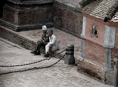 kathmandu (billie b.) Tags: old travel nepal people men bernard asian temple photography photo interestingness interesting asia flickr photographie explorer best explore katmandu billie nepali photographe durbarsquare interessant intressant katmandou meronepal billiebernard