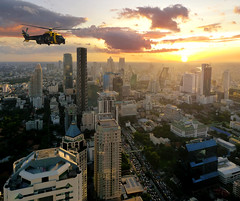 Navy Helicopter flying over Bangkok (Bn) Tags: chopper topf50 day cloudy bangkok champagne top