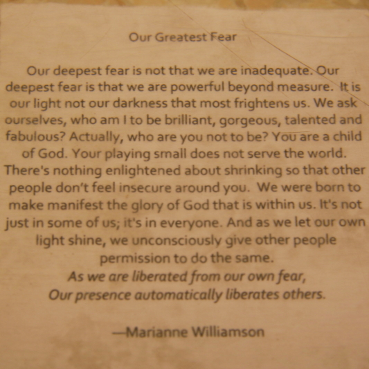 Our Greatest Fear