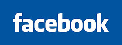 The logo of facebook