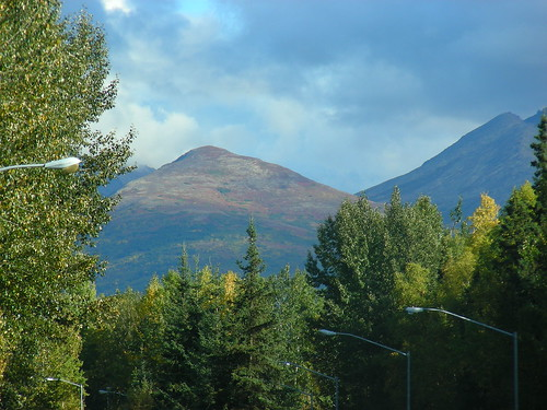 Chugach Mountains from UAA campus