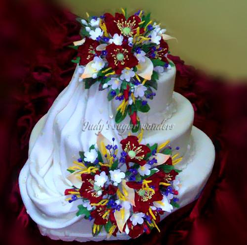 Good Luck Horse Shoe Wedding Cake Topper