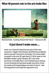What 40% cuts to the arts looks like (Rachael Ashe) Tags: artsandculture lookingtowardthefuture 40cutstoartsinbritishcolumbia