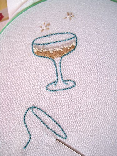I love the french knot bubbles!