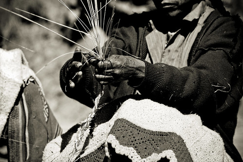 Keshwa Chaca weaving hands