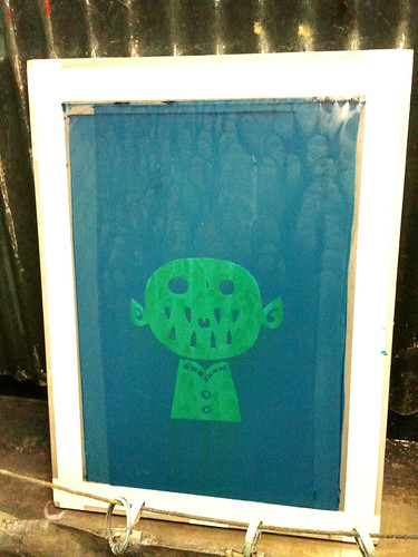 screenprinting class week 2: the burned screen