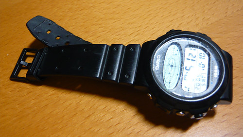 Black Casio watch