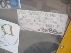 we could do that.. (Billy Danze.) Tags: chicago graffiti sticker bebs
