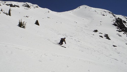 letting them run after the steeper portion of the face