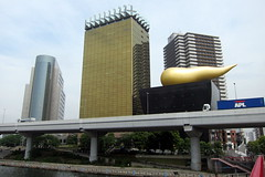 Tokyo - Azumabashi: Asahi Beer Tower and Beer Hall, and Sumida Kuyakusho (wallyg) Tags: japan skyscraper tokyo  nippon  sumida nihon honshu  kantoregion tokyoprefecture nikkensekkei goldenturd azumabashi asahibiru tky    tokyoto flammedor asahibeerhall philippestark  kantochiho honsh tkyto asahisuperdryhall kinnounko  asahibeertower   sumidacity kant kantchih  asahibreweries thegoldenturd   nikkensekkeiltd unkobiru ogonnounko kantregion azumabashihall tkyfu  sumidako asahibreweriesltd asahibrukabushikigaisha asahibru3 asahibirukabushikigaisha kabushikigaishanikkensekkei  sumidaasahibeertower asahibreweriesheadoffice asahibeerazumabashibuilding tokyofu tkyshi tokyoshi