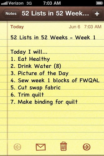 52 Lists in 52 Weeks || Week 1